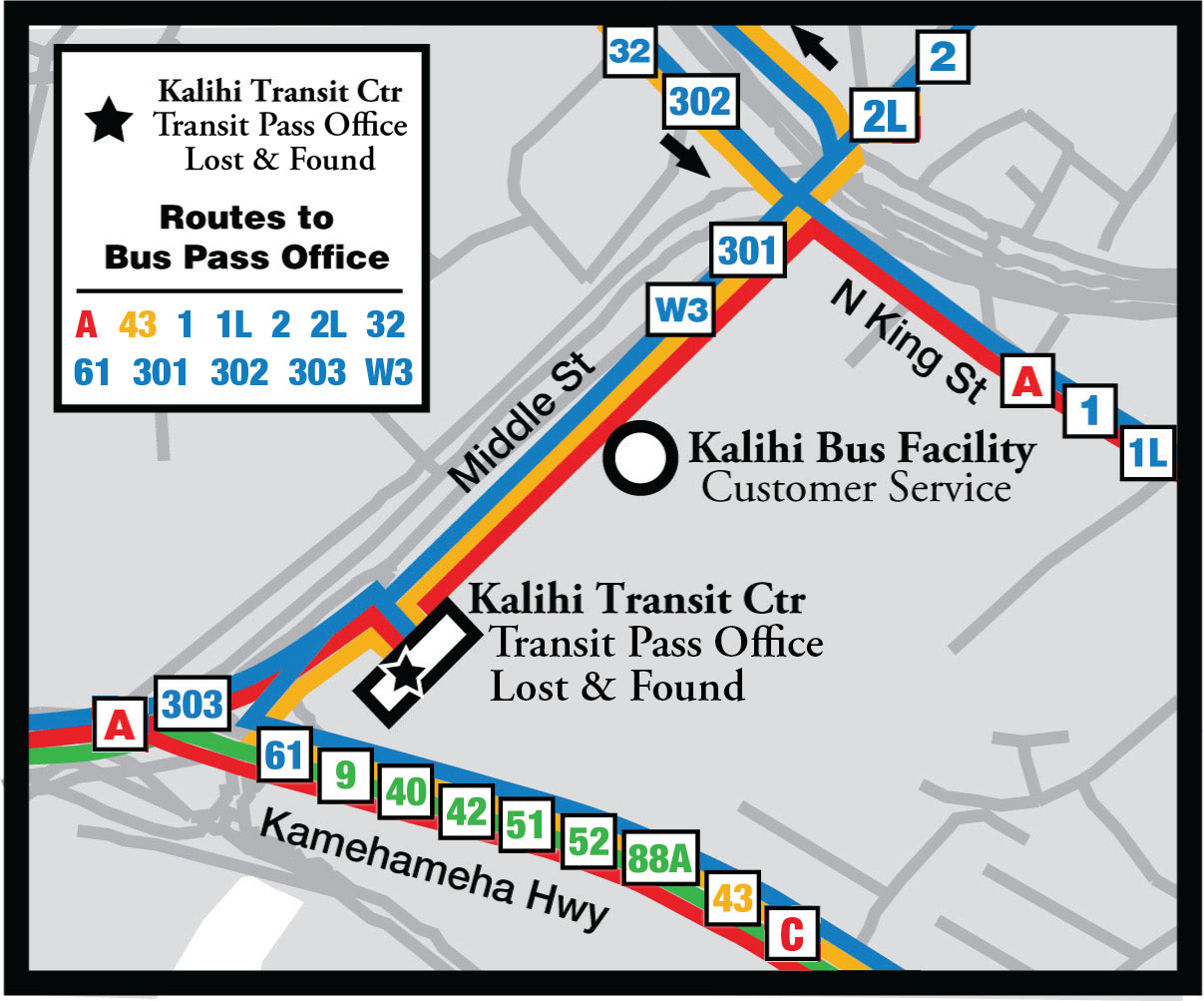 Kalihi Transit Facility Map