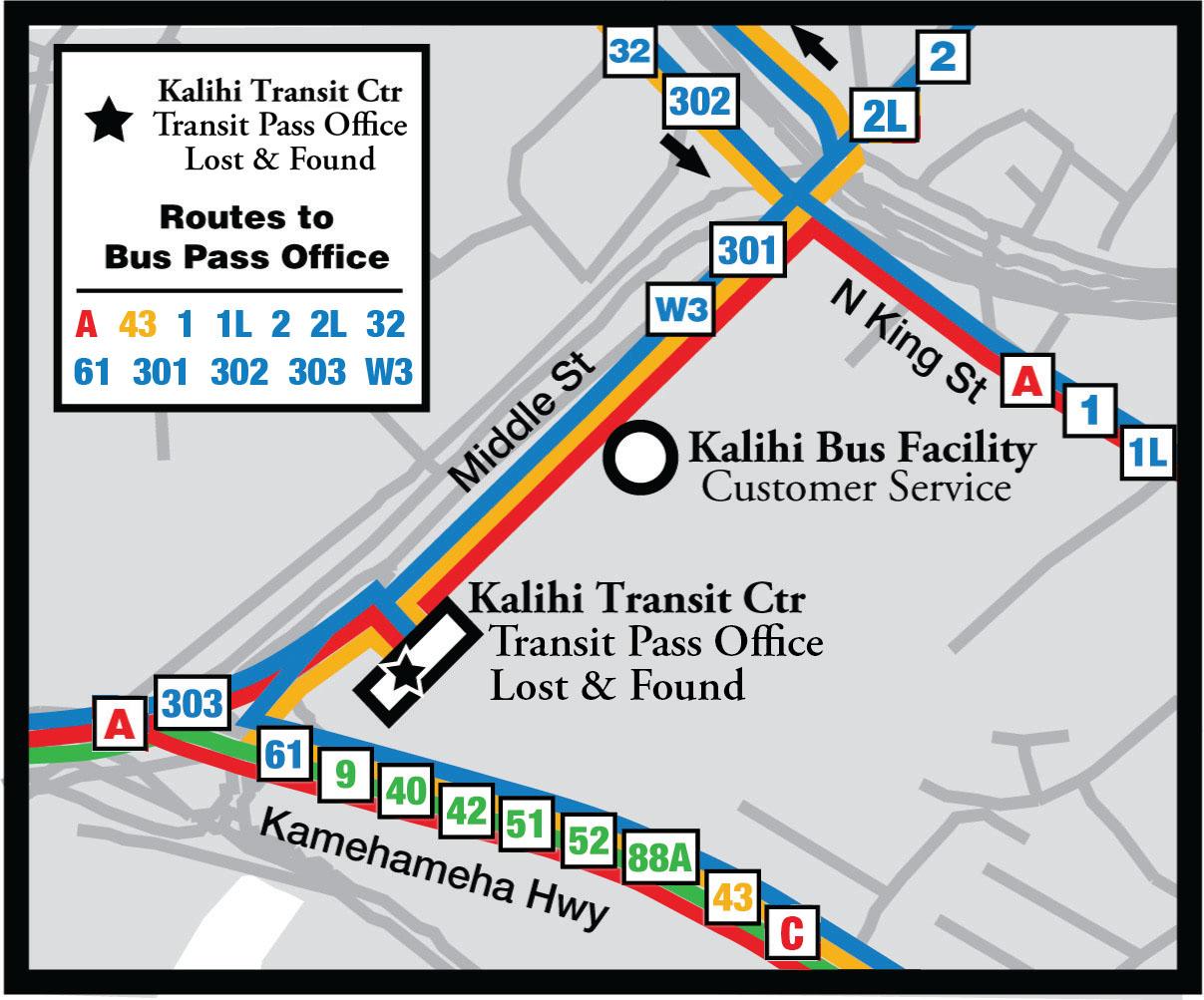 Kalihi Transit Facility Map
