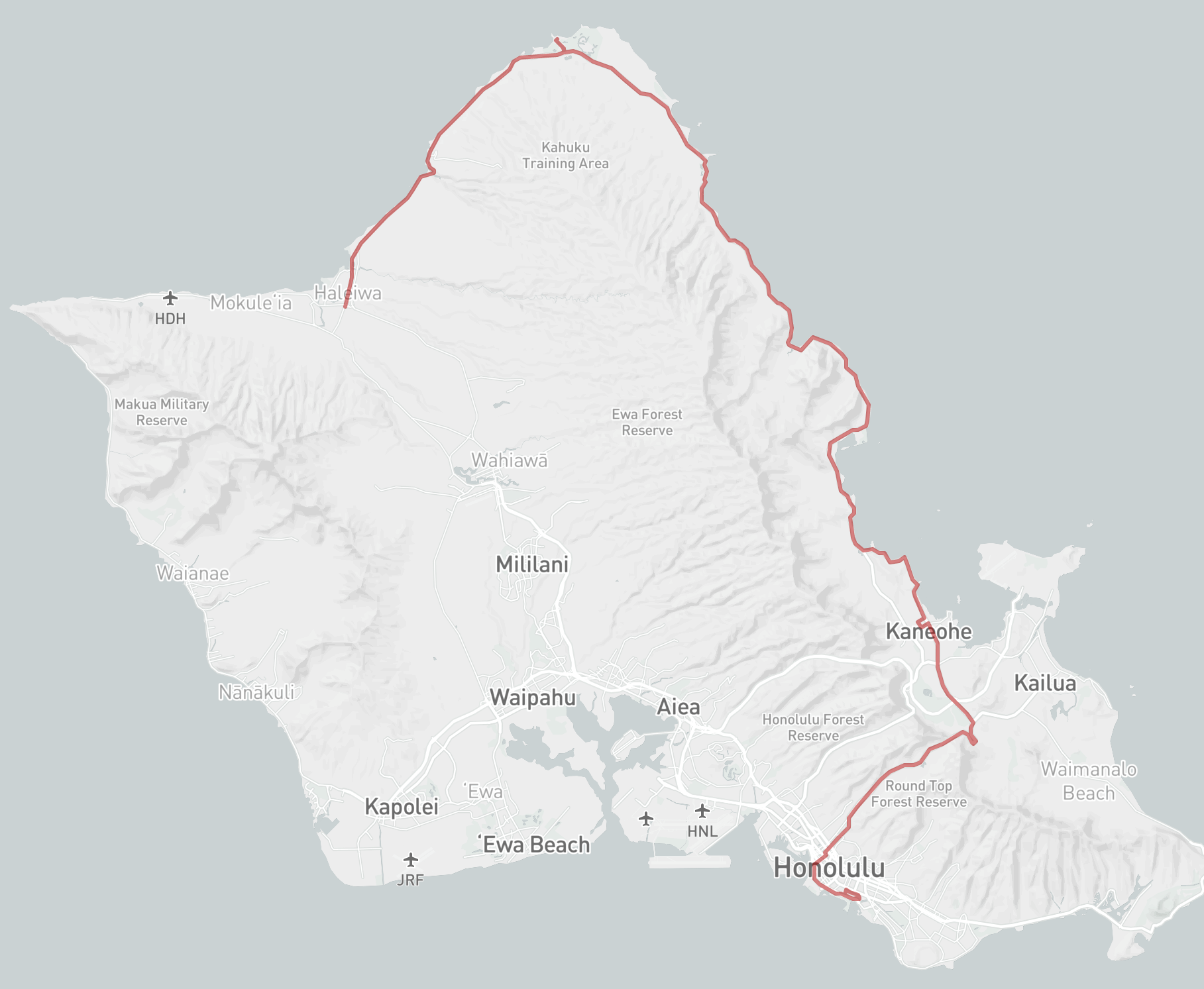 the bus hawaii map Thebus